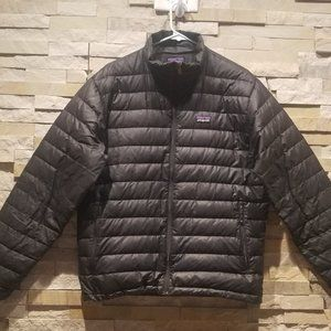 Patagonia Mens Small Black Down Puff Puffer Jacket